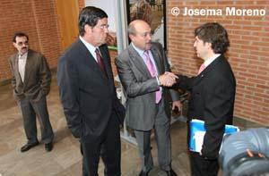 Rafael Candel, Ángel Contreras y Ubaldo González Garrote, tres de los últimos presidentes del Albacete Balompié.